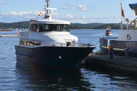 """""""Perlen"""" kjørte i rute mellom Kragerø og Portør i hele juli."""