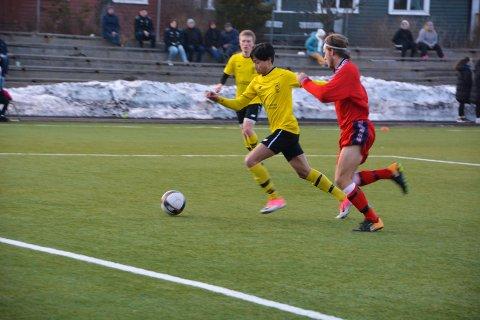 Erik Norheim scoret sitt første A-lagsmål i går. Her fra en kamp mot Tollnes 2 tidligere i sesongen.