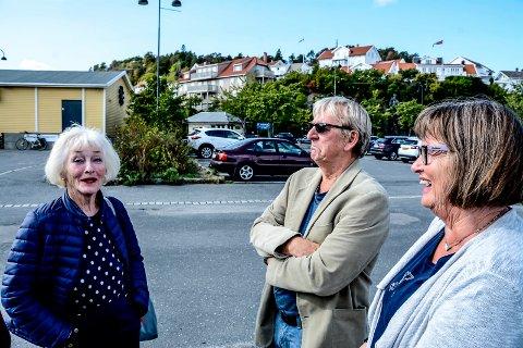 Engasjerte: Åse Lotsberg (t.v.) har sendt et innbyggerforslag til kommunen på vegne av Kragerø Bys Venner. De andre er Bjørn Olaf Isaksen og Ann-Kristine Aas.Arkivfoto: Jimmy Åsen