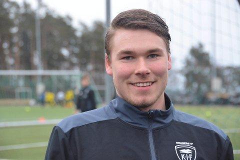 SCORET: Jonas Thoresen scoret Kragerøs ene mål i bortetapet mot Åfoss.