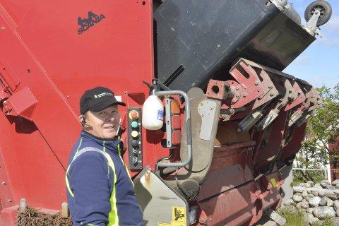 Morgan Martini er en av dem som arbeider med renovasjon i Kragerø kommune.
