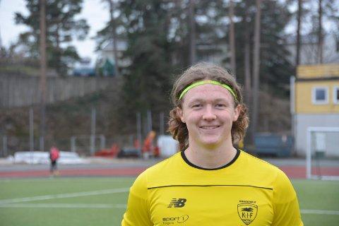 SCORET: Christian Kristensen Smedstad scoret en gang da Kragerø slo Herøya 3-1 i vårsesongens siste seriekamp.