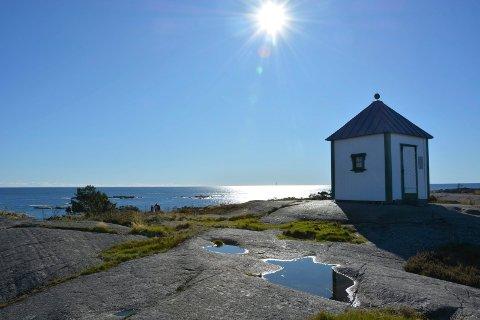 RESTAURERT: Vakthus eller også kalt losbua i Portør er ferdig restaurert.