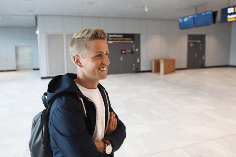 INNE I VARMEN: Thomas Grøgaard har fått en ny vår etter at Kåre Ingebrigtsen ble ansatt som Brann-trener. Foto: Emil Weatherhead Breistein