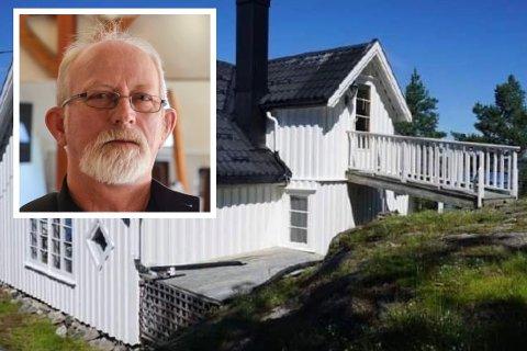 NOK ET JA: Kjell Ove Heistad (Ap) sto fast på å tillate utvidelse av denne hytta på Gumøy.