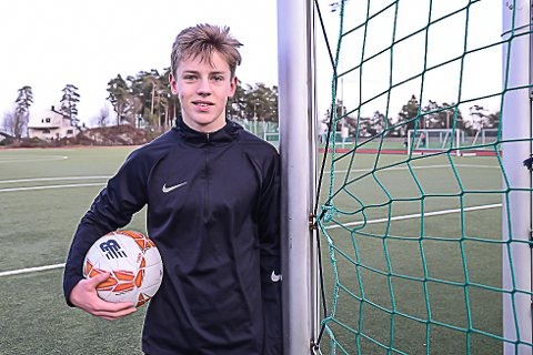 Endelig: Lørdag spilte Fillip Rønningen Jørgensen treningskamp med Odd mot Sandefjord etter at fotballen har ligget død i flere uker.