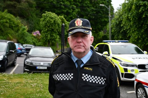 INGEN NYE PÅGREPET: - Det er ikke pågrepet flere personer, opplyser politistasjonssjef Øystein Skottmyr i Kragerø.