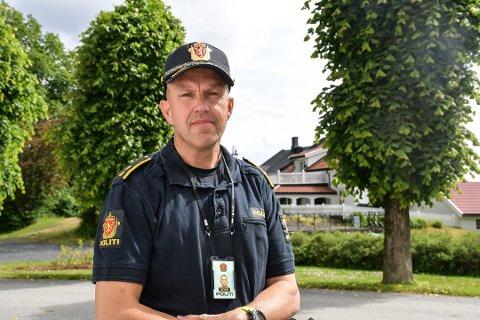 Politioverbetjent Terje Sandik ved Kragerø politistasjon. Arkivfoto: Per Eckholdt