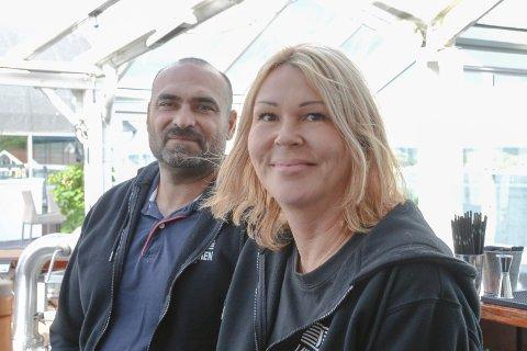 Milan Dimitrov og Isabella Dimitrova er fornøyde med besøket på Lanternen etter en snau ukes drift.