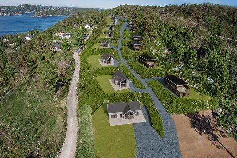 OMFATTENDE UTBYGGING: Dette er noe av visjonen for Kragerøfjorden hyttegrend på Ørvik.