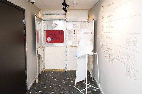 KORONAHOTELL: Koronagjestene på Citybox i Bergen har egen inngang til såkalt rød sone. Kragerøjenta tilbrakte omtrent en uke på hotellet.