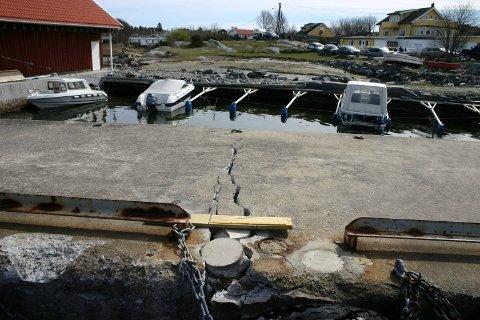 ILLUSTRASJON: Det søkes om å anlegge en småbåthavn og bygging av fem boder i Saltverksmyrveien 8 på Jomfruland. Tomta ligger bak småbåthavna i forgrunn.