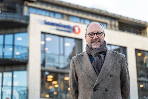 BYGGER VERDIER: Banksjef Per Halvorsen i Sparebank1 Telemark har sammen med de ansatte bygd store verdier i banken.