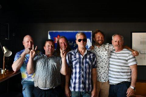 GLEDER SEG: Jørn Hennig Isaksen Ole Jacob Andreassen, Arne Astad, Kjell Bonhorst, Stian Vagen Nilsen, Terje Johannesen gleder seg over å kunne spille igjen.