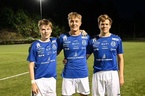 Målteft: Mathias Sundbø Jacobsen scoret 1 , Tobias Salvesen Heimdal scoret 3 og Per-Teodor Sørdalen scoret 1 mål.