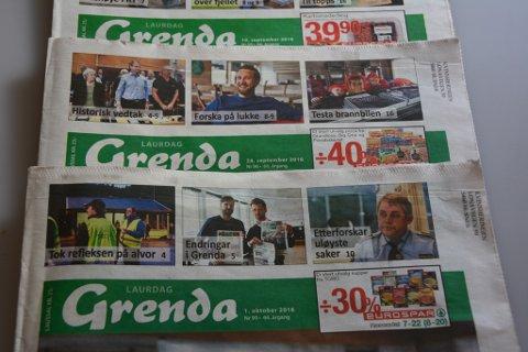 Frå 1. november kuttar Grenda ut laurdagsavisene.