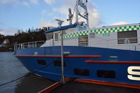 I dag er det Rødne sin ambulansebåt som opererer i SUnnhordlandsbassenget. (Arkivfoto).