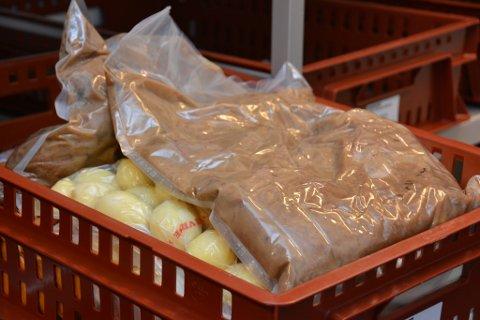 Kok/kjøl-mat laga i kjøkenet i Husnestunet førre veke.