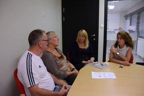 KVV har fleire tiltak og ressurspersonar som skal sørgja for at elevane ved skulen blir følgd opp. Her er nokre av personane i ressursteamet, f.v. Ole Bjarte Røssland, Anne Britt Bjelland, Jannice Rasmussen og Karen Bogsnes.