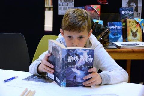 Fredrik Saghaug Eikeland (11) tok Harry Potter-quiz.