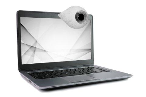 Mannen vart dømd for å ha installert spionprogramvare i fleire datamaskinar. Dette gav han høve til å blant anna starta webkamera utanfor eigarane av PC-ane sin kontroll. (Illustrasjon: Vidar Håland)