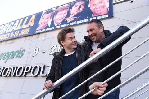Roar Brekke (t.v.) og Rune Johnsen ser fram til å underhalda kvinnheringar saman med André Ulveseter og Sturla Berg Johansen.
