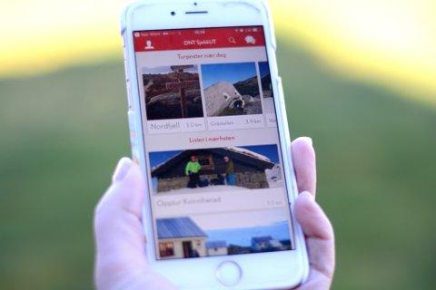 Appen til DNT skal gjera det lett å registrera turar og skriva seg inn i turbøker digitalt.