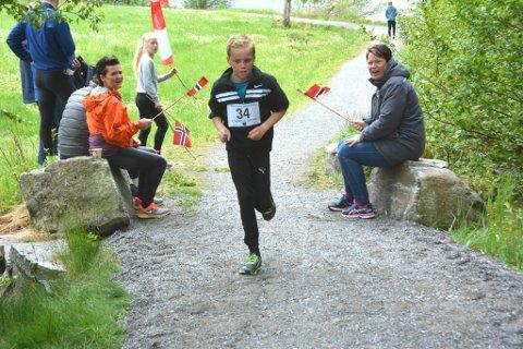 Til helga blir Postvegløpet arrangert for fjerde gong. Her ser du Brynjar Vigrestad i farta, ein av dei som deltok på løpet i fjor. (Arkivfoto).