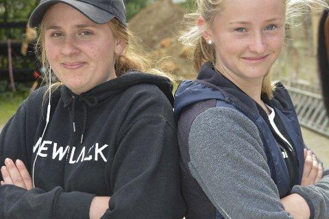 DUELLANTANE: Eline Albrethson (t.v.) og Sigrid Øyre.