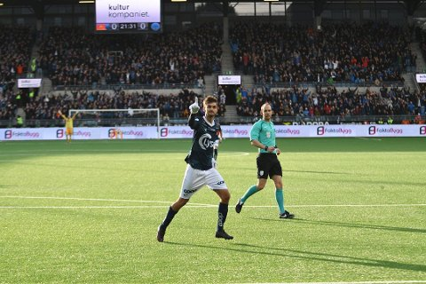 Furdal har hatt ein strålande sesong. Her frå oppgjeret mot Kongsvinger i siste serierunde, der Viking sikra opprykket til eliteserien.