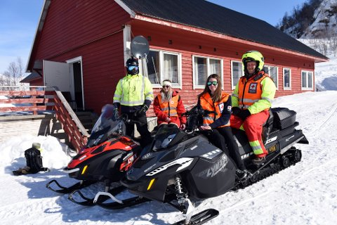 Her ser vi fire av korpsmedlemene som var på vakt i Fjellhaugen skjærtorsdag. F.v. Espen Berge-Soldal, Kristina Vasslid, Gunn Kristin Raudstein og Magne Skåle Hansen.