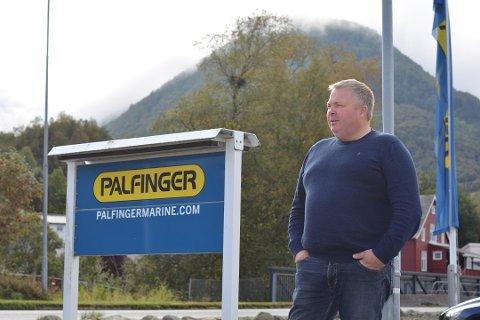 Dagleg leiar i Palfinger Marine, Alf Eidsvik, ser ljost på framtida. (Arkivfoto).