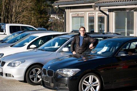 NØGD: Frode Thorsen er nøgd med utviklinga i Thorsen Bil i fjor.