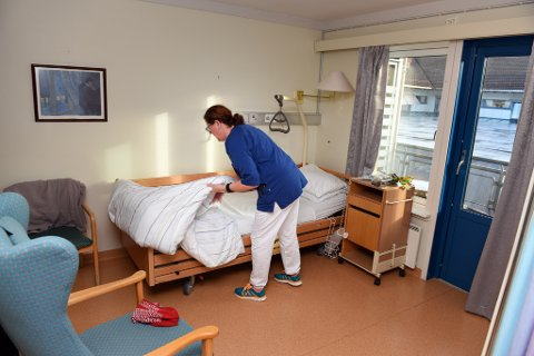 Ein av sengepostane på samhandlingsavdelinga ved Husnestunet. (Arkivfoto).