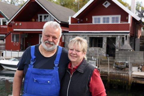 PARADIS: Lothar og Eva Lange har funne ferieparadiset sitt på Halsnøy, dei siste ti åra på Asalneset nær Sæbøvik.