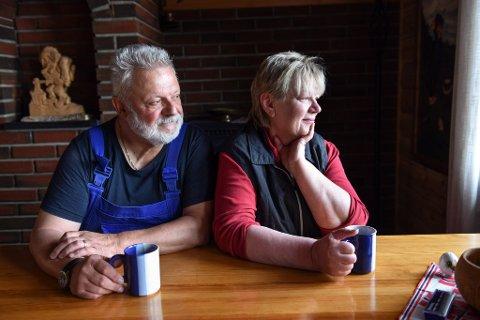 UTSIKT: Det tyske paret nyt utsikta frå stova i hytta.
