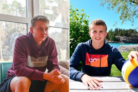 Lars Kristian Ekeland (t.v.) og Jens Aasgard er to av 16 spelarar i ungdomslandslagstroppen. (Arkivbilde).