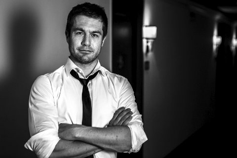 Debutant: Lasse Gallefoss debuterte med krimromanen «Krigernes fred» i fjor. (Pressefoto).