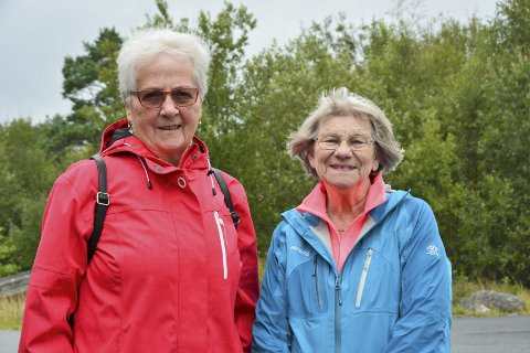 På tur: Ruth Henriksen (t.v.) og Aud Sigrun Fausk ønskjer medlemar og andre velkomne med på tur 12. september. Foto: Trude aarsand