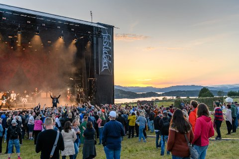 Slik såg det ut under årets Festidalen på fredagen. (Foto: Lars Martin Teigen).