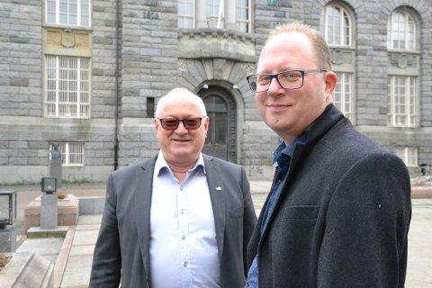 Rune Hetland (t.v.) har gitt seg som generalsekretær for LLA. Ein av søkjarane som ønskjer å ta over, er Tomas Bruvik. (Foto: Geir K. Hus).