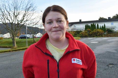 ENGASJERT: Cheyenne Rørvik i Kvinnherad Røde Kors.