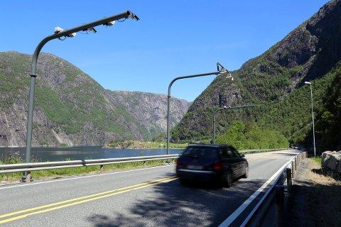 BORTE: Bomstasjonen for E 134 ved Eljarvik ved Åkrafjorden skal fjernes i 2021, tror Terje Halleland. (Arkivfoto).