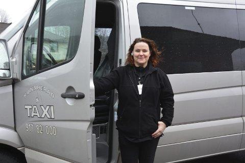 Irene Engelsen i Taxi Kvinnherad er glad for å ha blitt ein del av Stord Taxi.