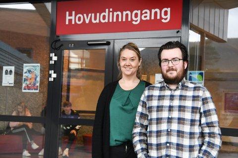 TIdlegare elevar: Julie Holmedal Askeland og Christian Bjørgen er begge tidlegare elevar ved KVV og ein del av lærarstaben i dag.