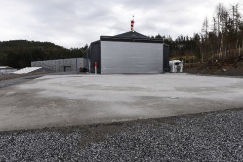 STADNAMNBONANZA: Husnes Helikopterplass, Sunde, ligg på industriområdet på Opsanger. (Arkivfoto).