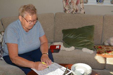 KONSENTRASJON: Anne Guri Hauge (80) hadde god kontroll på tala sine.