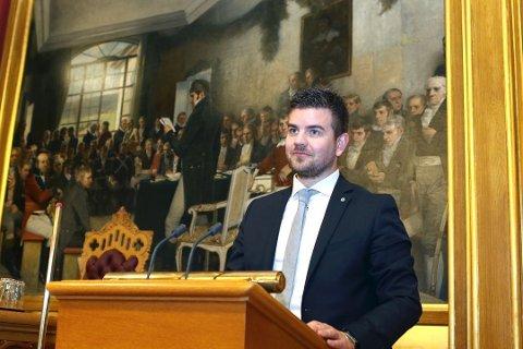 Hans Inge Myrvold er ein av Hordaland Sp sine toppkandidatar til Stortingsvalet til neste år. Her frå tidlegare representasjon på tinget. (Arkivfoto).