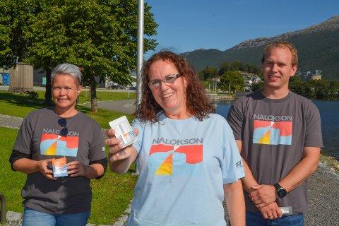 Desse tre utgjer kommunen sitt nye «overdoseteam», og nytt av året er tilbod om medisinen Nalokson. Dette er ein nasespray som på kort tid kan stoppa ein overdose. F.v.: Ida Dolonen-Marthinussen, Marian Ripel og Ruben Rogne.