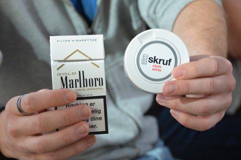 Røykinga held stand blant dei i aldaren 55-64 år, medan unge ser ut til å føretrekka snus.